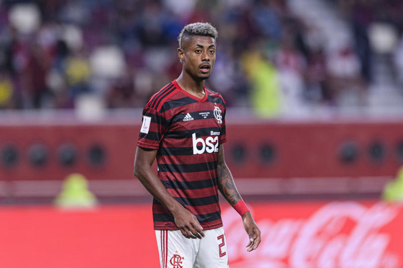 DOHA, QATAR - DECEMBER 17: Bruno Henrique Pinto of Flamengo in action during the FIFA Club World Cup Semi-Final match between CR Flamengo and Al Hilal FC at Khalifa International Stadium on December 17, 2019 in Doha, Qatar. (Photo by Marcio Machado/Eurasia Sport Images/Getty Images)