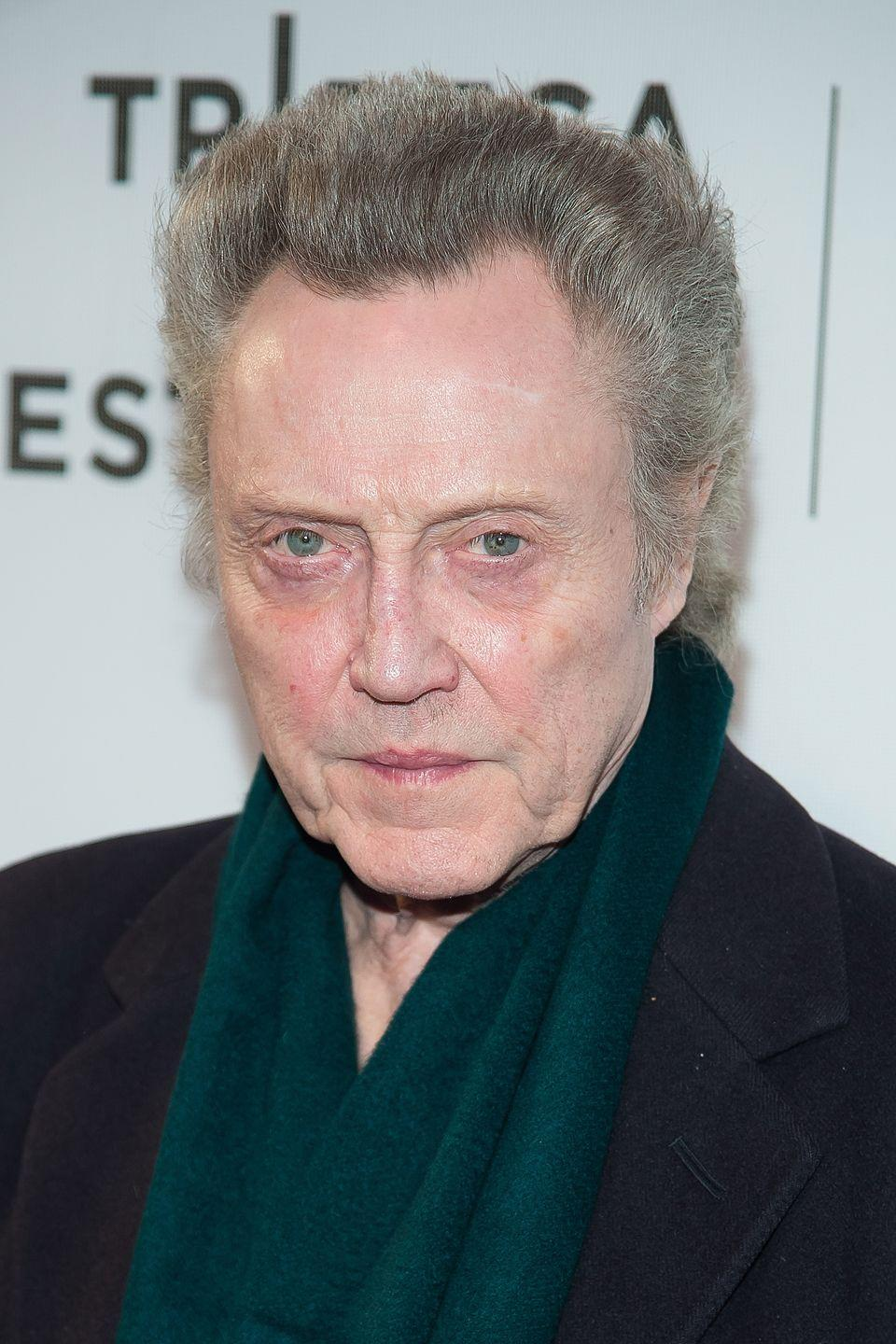 <p>Walken has blue eyes with green inner rings, which are as distinctive as his acting style.</p>