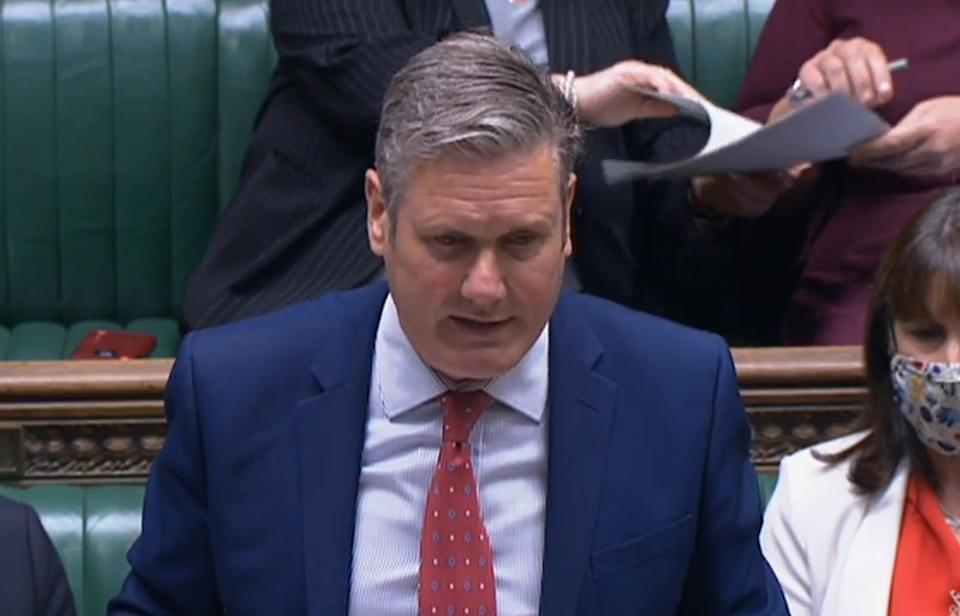 Labour Party leader Sir Keir Starmer speaking in the House of Commons, Westminster, after Prime Minister Boris Johnson announced a 1.25 percent increase in National Insurance from April 2022 to address the funding crisis in the health and social care system.