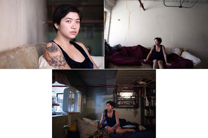 """Aiyana, a 22-year-old artist, posed for a portrait in her home in New York on September 21, 2012. Aiyana saidshe was 20 years old when she became pregnant and had an abortion.<br /><br /><i>""""It definitely has been really rewarding in some ways at least I know I can give friends or acquaintances of mine somebody to talk to, who can give them advice or give them resources that they might not otherwise be aware of... Obviously it's something private. But if it's something that you feel ok talking about, I think that vocalization is important. I think it can help remove the stigma that's attached to having an abortion.""""</i><br /><br />Read the rest of Aiyana's story <a href=""""http://allisonjoyce.com/abortion-after-the-decision/ABORTION_ALLISONJOYCE__105/"""" target=""""_blank"""">here</a>."""
