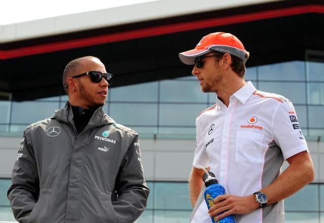 Lewis Hamilton (left) and Jenson Button are former team-mates