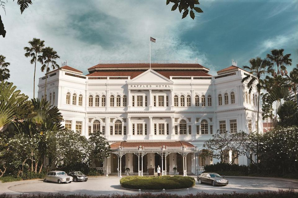 """<p><strong>How did it strike you on arrival?</strong><br> It may well be that no hotel is more closely associated with its city than <a href=""""https://www.cntraveler.com/story/raffles-singapore-review-first-in?mbid=synd_yahoo_rss"""" rel=""""nofollow noopener"""" target=""""_blank"""" data-ylk=""""slk:Raffles Singapore"""" class=""""link rapid-noclick-resp"""">Raffles Singapore</a>. It has gone through various mutations in the 130 or so years since it opened, as a modest 10-room bungalow, in 1887. By the early 20th century it had pretty much assumed the physical form that it retains today and attained something like mythical status.</p> <p><strong>What's the story?</strong> Long and complicated. The sort of story that people write books about. (As a matter of fact, the great Pico Iyer has just written a brilliant book about it, a copy of which you may, I suspect, find on your bedside table on your next visit to Raffles, as well as in the Writers Bar and the Hamleys-like Raffles Boutique.) Long story short, though, the old bird needed a bit of zhuzhing-up. The zhuzhing-up took closer to three years than two to complete, and repeated delays along the way had some observers and Raffles loyalists—including me—more than a little twitchy. Would it all be OK in the end? Had something gone terribly, terribly wrong? It would, and it had not. The good bits have all been preserved. The less good bits, or in any case those that simply had to change, have been given the treatment. Most of that treatment has come courtesy of Alexandra Champalimaud, who previously waved her hard-to-define, contemporary-classic wand over the Plaza in New York and the Dorchester in London, among many other hotels. I cannot help thinking that this is the best of the lot.</p> <p><strong>The good stuff: Tell us about your room.</strong><br> An extremely pleasant surprise. (And by the way, it is not a """"room."""" Suites only, almost all of them arranged according to a typically tropical """"tripartite"""" design, whereby you pass from veran"""