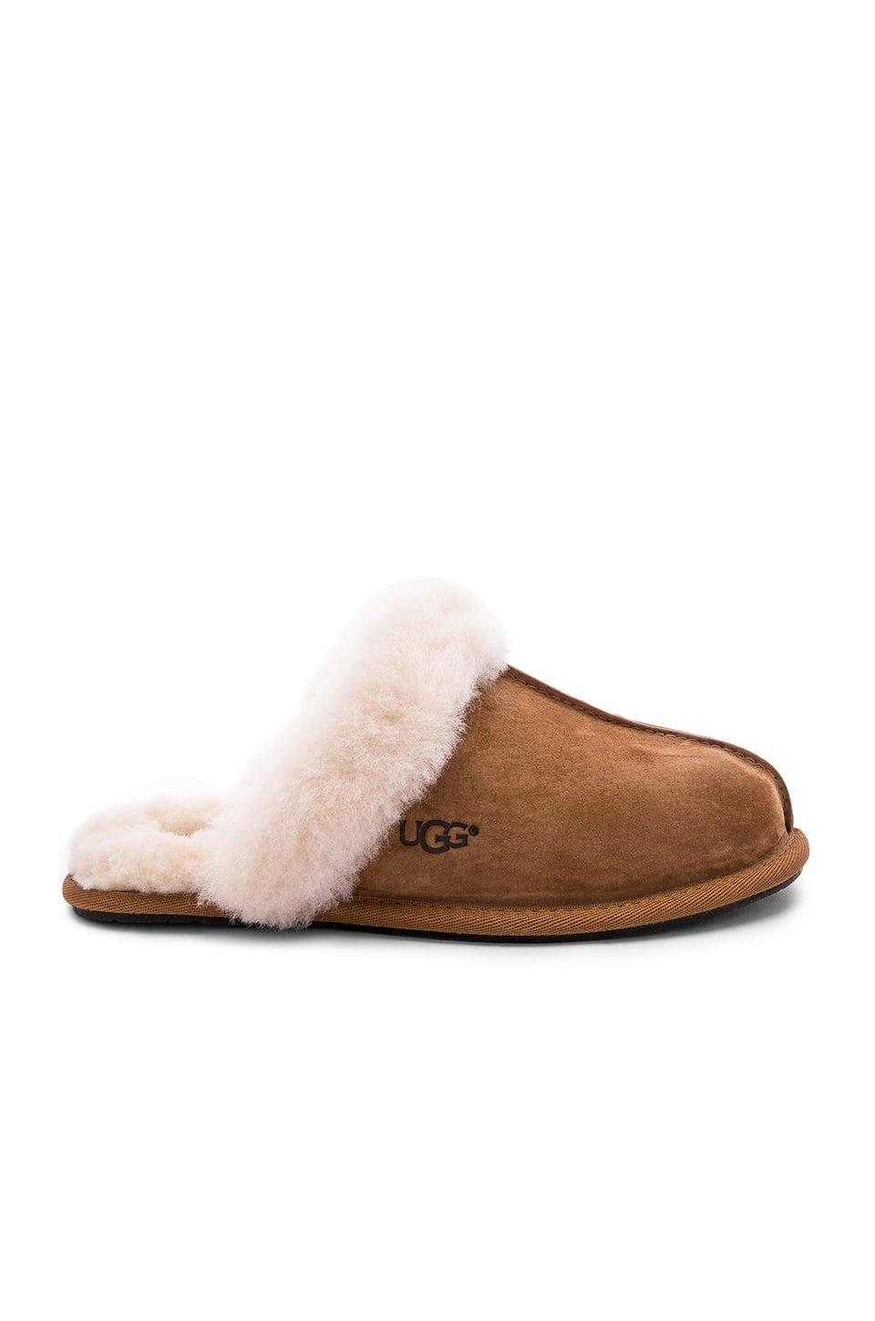 <p>They'll want to be as cozy as possible this season, and that involves these <span>UGG Scuffette II Slippers</span> ($90).</p>