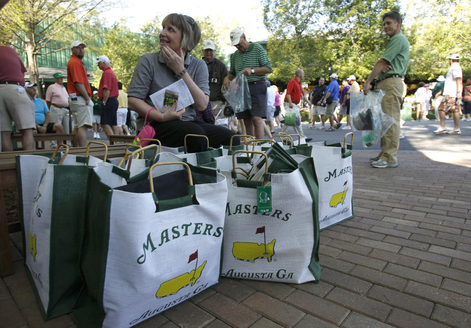 This is the minimum necessary to purchase for Masters shoppers. (Hans Deryk/Reuters)