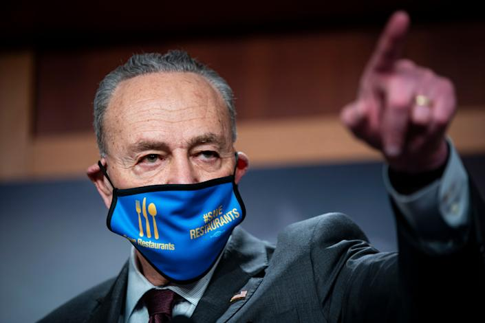 Senate Majority Leader Charles Schumer (D-N.Y.) has criticized Republican efforts to delay the passage of the popular coronavirus relief package. (Photo: Al Drago/Getty Images)