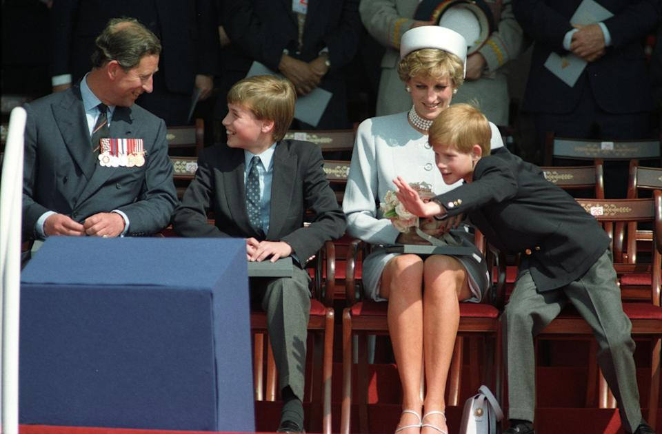 Princess Diana with Prince Charles and her sons William and Harry in 1995. (Photo: REUTERS/Dylan Martinez)