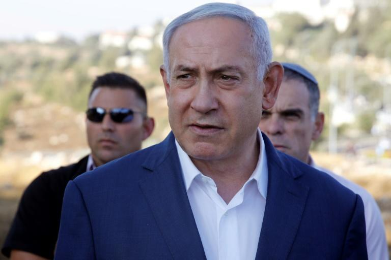 "Israel's Prime Minister Benjamin Netanyahu (pictured August 8, 2019) said he was ""not impressed"" by Nasrallah's threats (AFP Photo/Menahem KAHANA)"