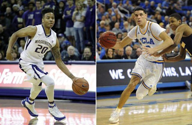 Markelle Fultz, left, and Lonzo Ball are the marquee names in the draft. (AP)