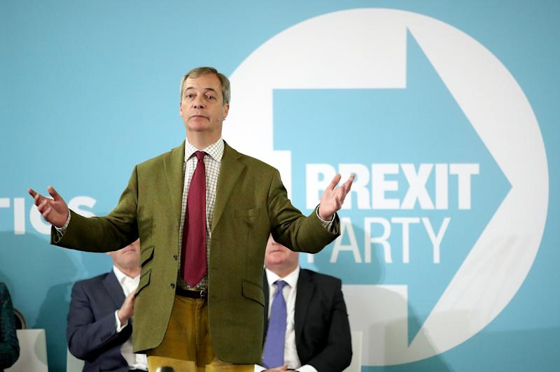 "Brexit Party leader Nigel Farage called Jeremy Corbyn a ""friend of terrorists"" after he spoke about the killing of ISIS's leader. (PA Images)"