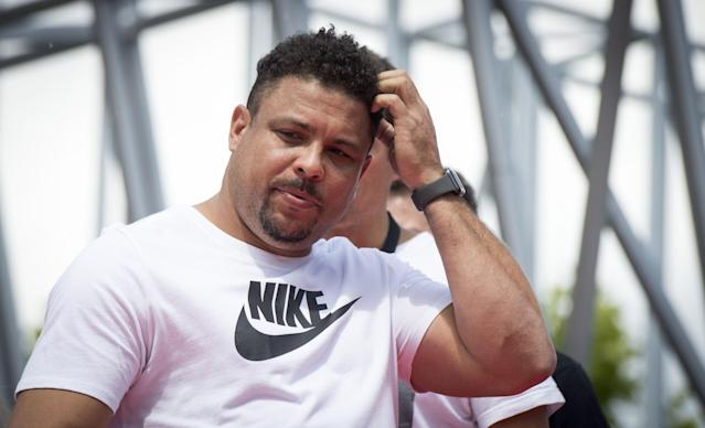 Former Brazilian striker Ronaldo has battled weight problems after retiring from soccer in 2011. (Getty)
