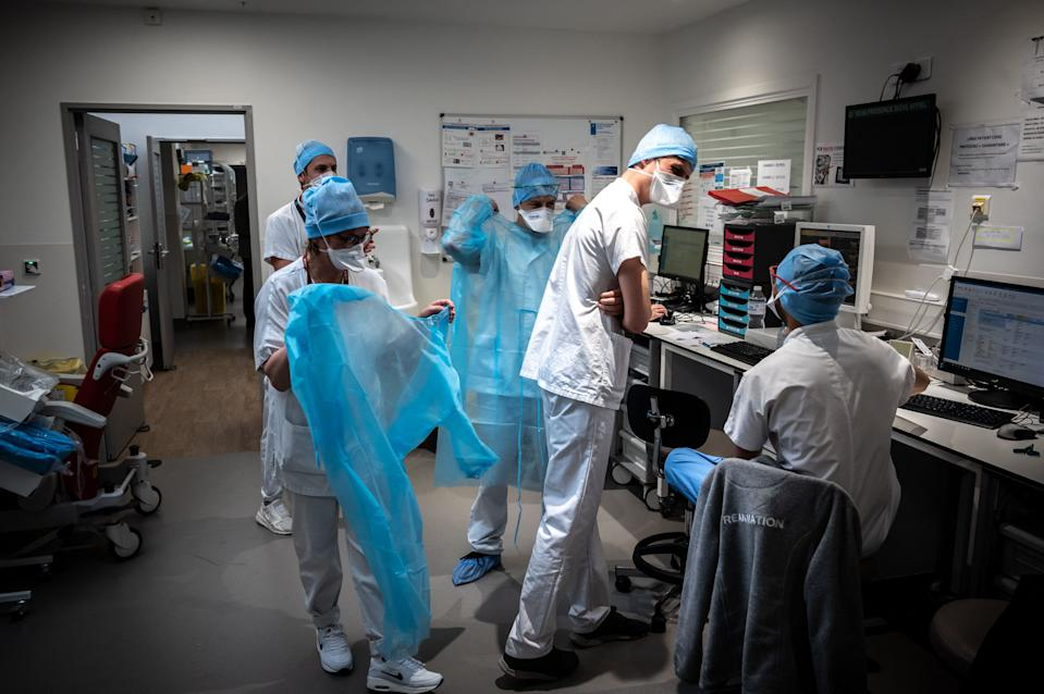A COVID intensive care unit at a hospital near Lyon, France that has recently seen an influx of patients. (Reuters)