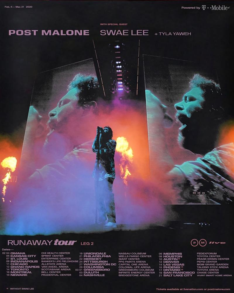 post malone runaway tour 2020 concert tickets Post Malone announces 2020 Runaway Tour dates