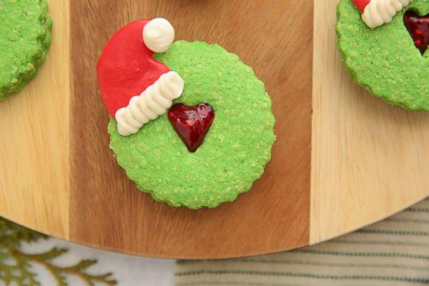 PHOTO: Brit and Co's Grinch Linzer cookies. (ABC News)