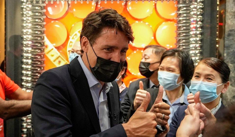 Canada's Liberal Prime Minister Justin Trudeau campaigns in Richmond Hill, one of Ontario's most Chinese electorates, last week. Photo: Reuters