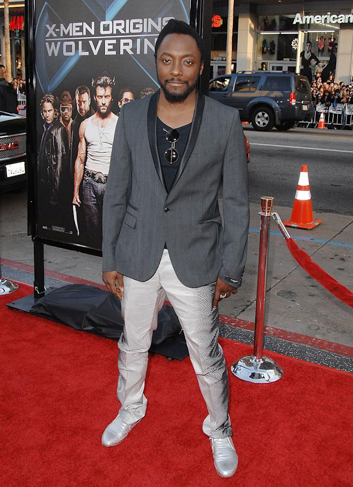"<a href=""http://movies.yahoo.com/movie/contributor/1808655025"">Will.i.am</a> at the Los Angeles premiere of <a href=""http://movies.yahoo.com/movie/1808665084/info"">X-Men Origins: Wolverine</a> - 04/28/2009"