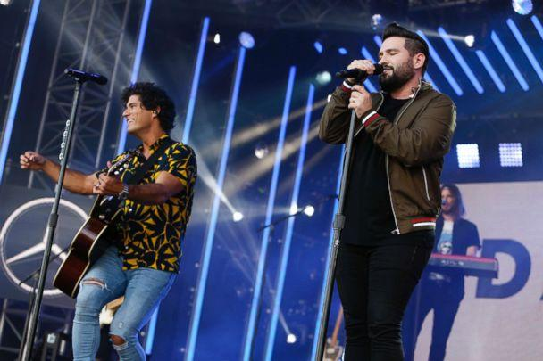 PHOTO: Dan + Shay on 'Jimmy Kimmel Live!' July 31, 2018, in Los Angeles. (Randy Holmes/ABC via Getty Images)