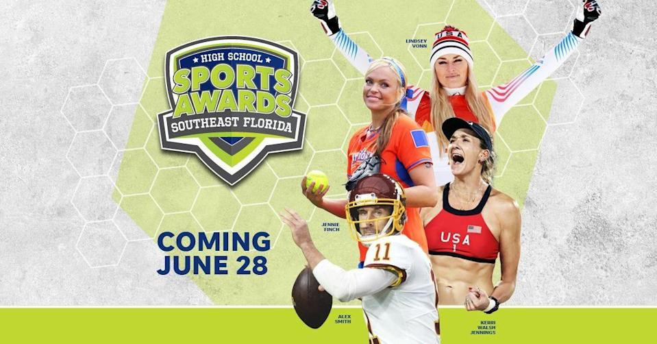 Lindsey Vonn, Alex Smith, Kerri Walsh, and The Bachelor's Matt James and Tyler Cameron, will be among a highly decorated group of presenters and guests for the Southeast Florida High School Sports Awards