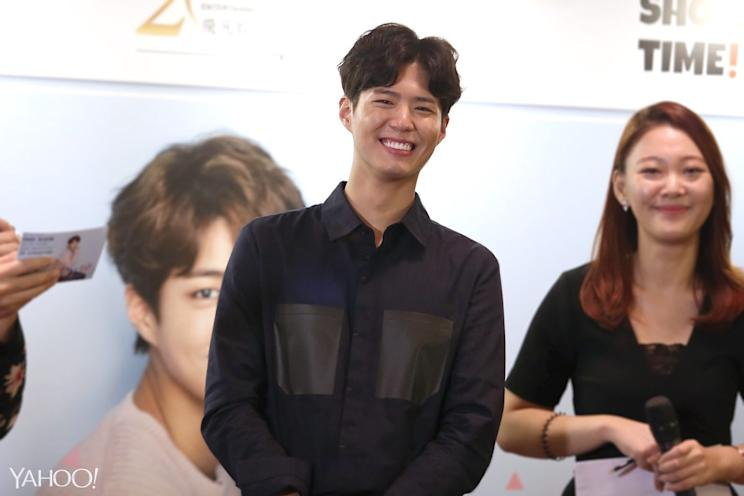 Park Bo-gum at the press conference for his fan-meeting in Singapore