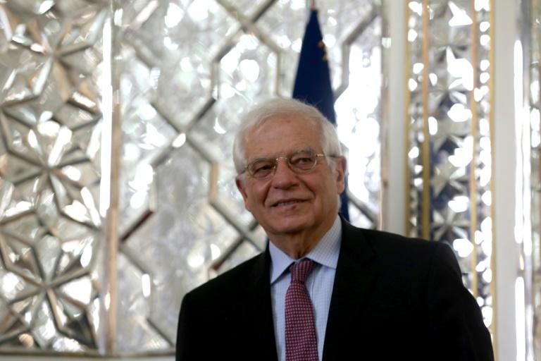EU High Representative for Foreign Affairs and Security Policy Josep Borrell, pictured February 3, 202 in Tehran, triggered a row  saying he believed students had been galvanised by teen Swedish climate activist Greta Thunberg without realising the costs they would bear to ensure a carbon-neutral future