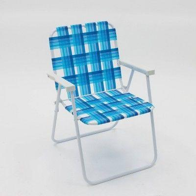 """<p><strong>Sun Squad</strong></p><p>target.com</p><p><strong>$20.00</strong></p><p><a href=""""https://www.target.com/p/webstrap-beach-chair-blue-sun-squad-8482/-/A-53855792"""" rel=""""nofollow noopener"""" target=""""_blank"""" data-ylk=""""slk:Sit a Spell"""" class=""""link rapid-noclick-resp"""">Sit a Spell</a></p><p>Wave at the neighbors from this breezy blue colorway—a solid pick for a watery setting, like the beach or the lake.</p>"""