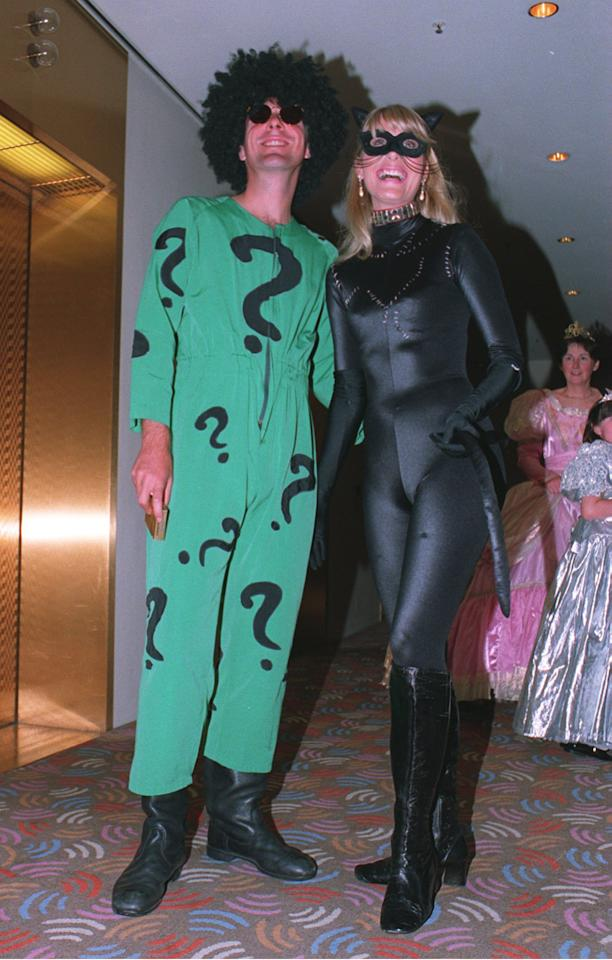 25 DEC 1994:  PHIL TUFNELL OF ENGLAND AND HIS WIFE LISA IN FANCY DRESS FOR THE CHRISTMAS PARTY DURING THE SECOND TEST AGAINST AUSTRALIA IN MELBOURNE. Mandatory Credit: Graham Chadwick/ALLSPORT
