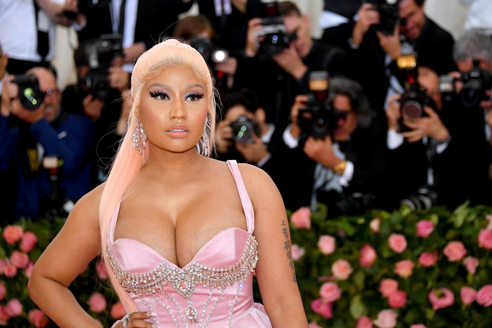 NEW YORK, NEW YORK - MAY 06: Nicki Minaj attends The 2019 Met Gala Celebrating Camp: Notes on Fashion at Metropolitan Museum of Art on May 06, 2019 in New York City. (Photo by Dia Dipasupil/FilmMagic)