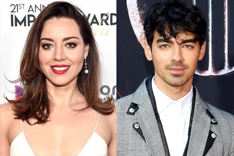 Aubrey Plaza; Joe Jonas | Alberto E. Rodriguez/Getty; Jamie McCarthy/WireImage