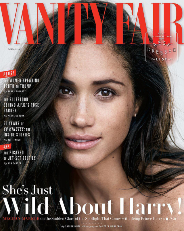 The 36-year-old actress appears on the cover of the magazine's October issue. (Photo: Vanity Fair)