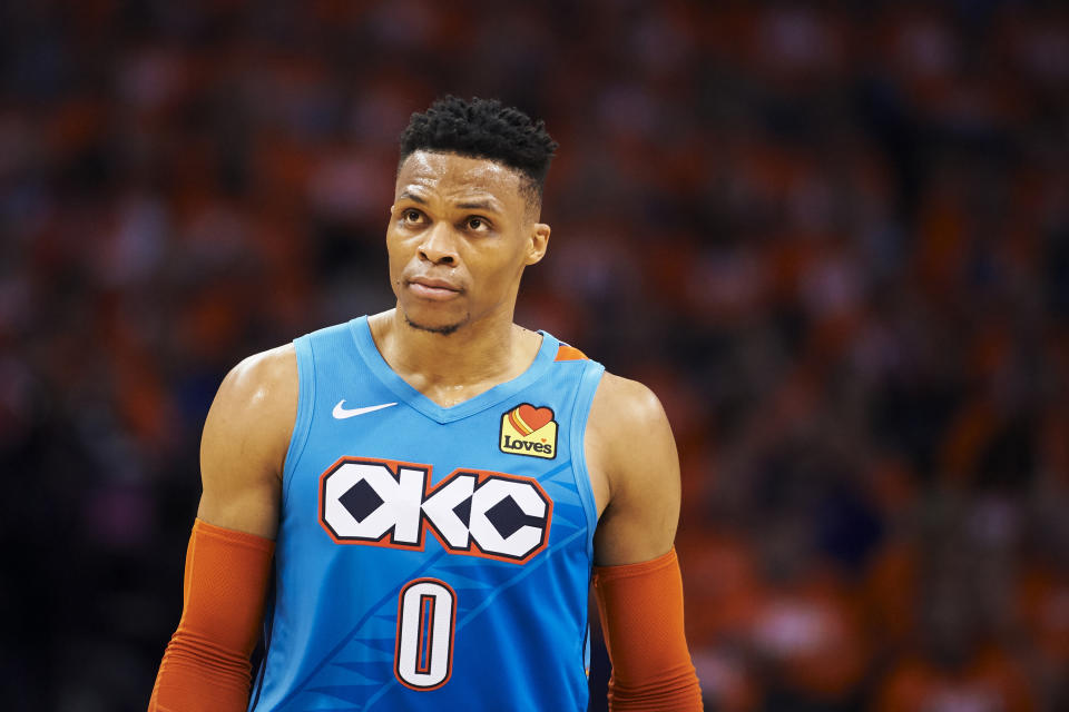 Russell Westbrook, Thunder eyeing next steps. (Photo by Cooper Neill/Getty Images)