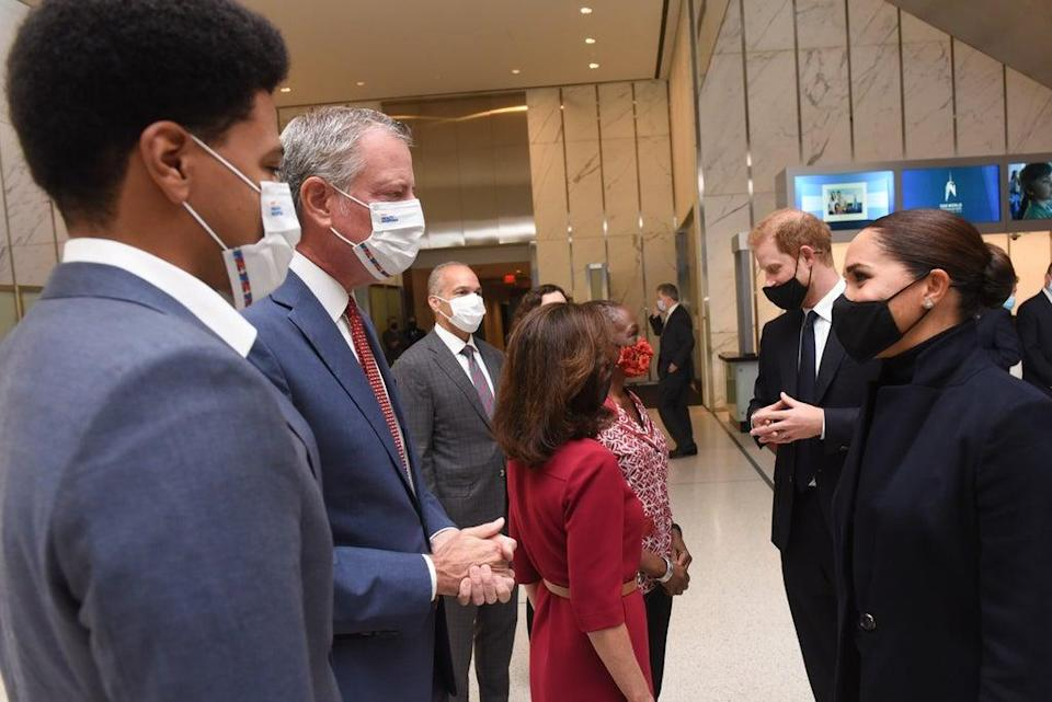 The Sussexes at One World Trade Center (Michael Appleton/Mayoral Photography Office/PA)