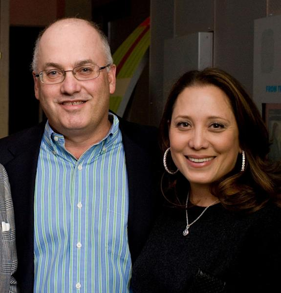 In this Dec. 10, 2009 photo released by Peppe Communications, billionaire hedge fund manager of SAC Capital Advisors based in Stamford, Conn., Steven Cohen and his wife Alexandra attend a benefit for the Mercy Corps Action Center to End World Hunger in New York. The hedge fund operated by Cohen was hit with white-collar criminal charges Thursday, July 25, 2013, that accused the fund of making hundreds of millions of dollars illegally, and a related government lawsuit said insider trading was pervasive and unprecedented at the firm. (AP Photo/Peppe Communications, Jenny Boyle) NO SALES