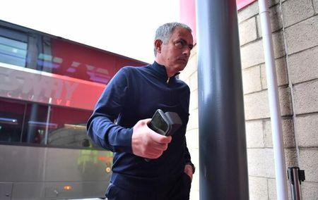 Manchester United manager Jose Mourinho arrives before the match