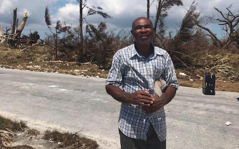 <span>Pastor Joey Saunders did not eat or sleep for two days as he clung to a tree</span> <span>Credit: Hayley Dixon for The Telegraph </span>