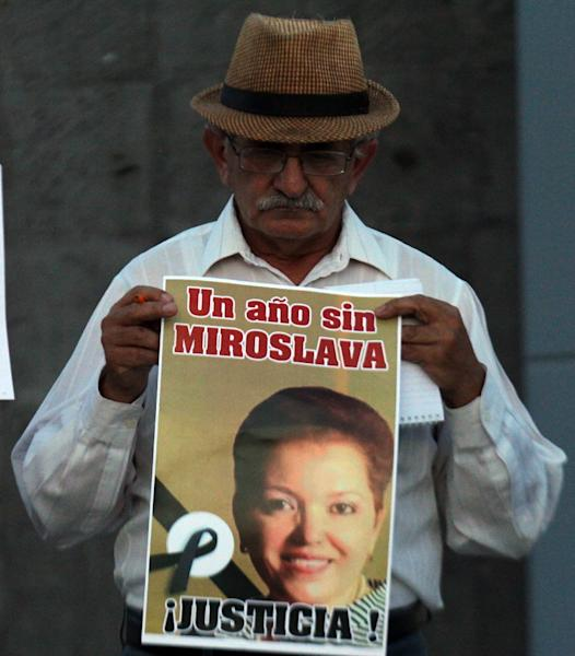 Miroslava Breach, a correspondent for Mexican daily La Jornada in the state of Chihuahua, on the US border, was a celebrated investigative journalist known for hard-hitting reports on links between politicians and organized crime (AFP Photo/HERIKA MARTINEZ)