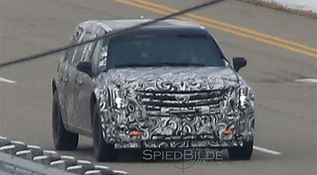 Website Autoblog posted an image of a Cadillac being tested by General Motors, speculating it was the first sighting of the new Beast. Photo: Autoblog