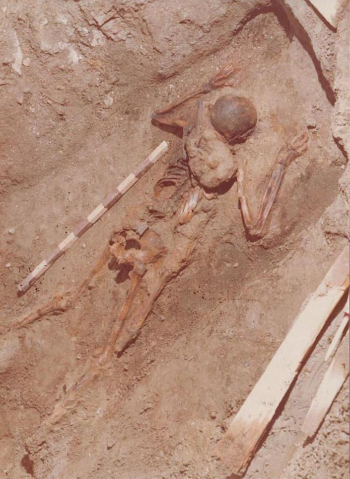 Image: The skeleton was discovered in Herculaneum back in the 1980's (Parco Archeologico di Ercolano)