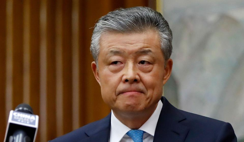 China's ambassador to Britain, Liu Xiaoming, met a British official to discuss the country's recent criticisms. Photo: AFP