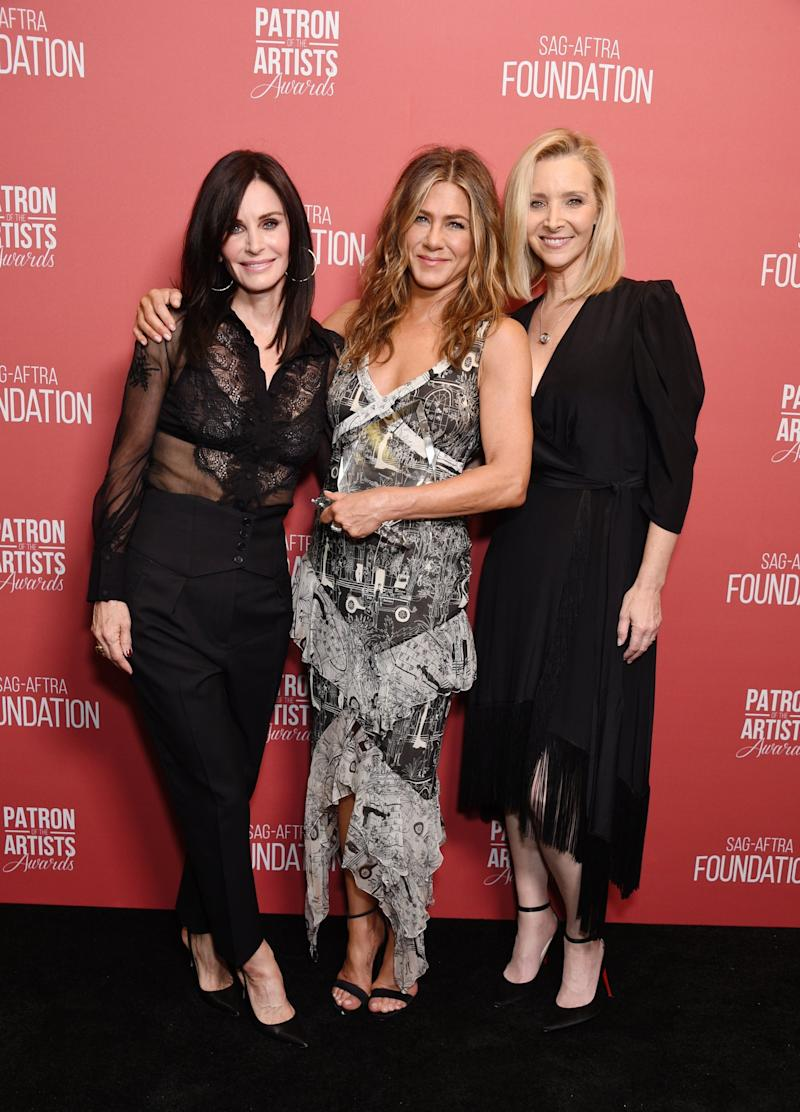 Still friends: The famous trio reunited at the event (Getty Images for SAG-AFTRA Found)
