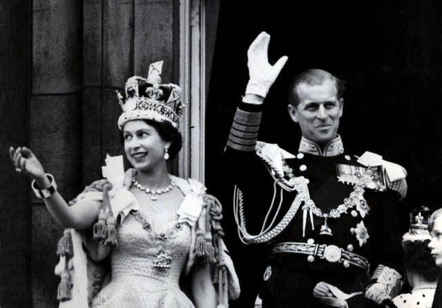 On the balcony after the Coronation