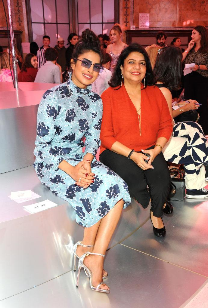 <p>Actress Priyanka Chopra and her mother, Madhu Chopra attend the Kate Spade Spring 2019 show during New York Fashion Week at the New York Public Library on September 7, 2018 in New York City. (Photo: Desiree Navarro/WireImage) </p>