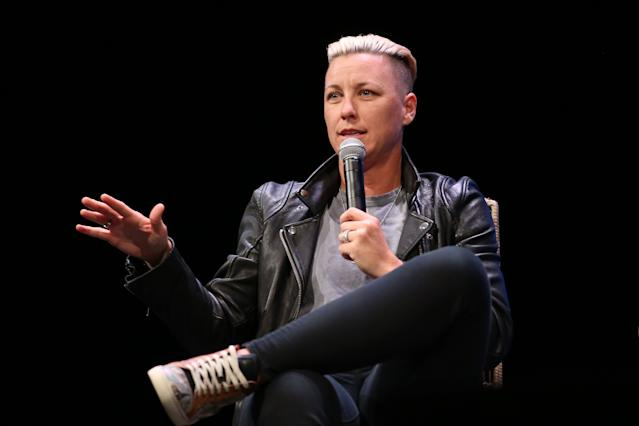 Motivational speaking was always a talent of Abby Wambach's. Now it's given her life renewed purpose. (Getty)