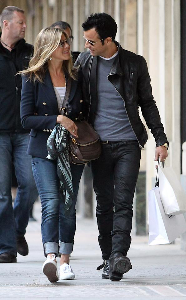 "Jennifer Aniston and Justin Theroux are ""tying the knot in Paris,"" reveals the <i>National Enquirer,</i> which notes their recent trip there wasn't just a ""romantic getaway,"" but rather ""a search for the right locale"" for the wedding. For insider details, including which celebrities are invited and when the couple will marry, see what a Theroux pal spills to <a target=""_blank"" href=""http://www.gossipcop.com/jennifer-aniston-paris-wedding-justin-theroux-france-married-nuptials-september-2012/"">Gossip Cop</a>."