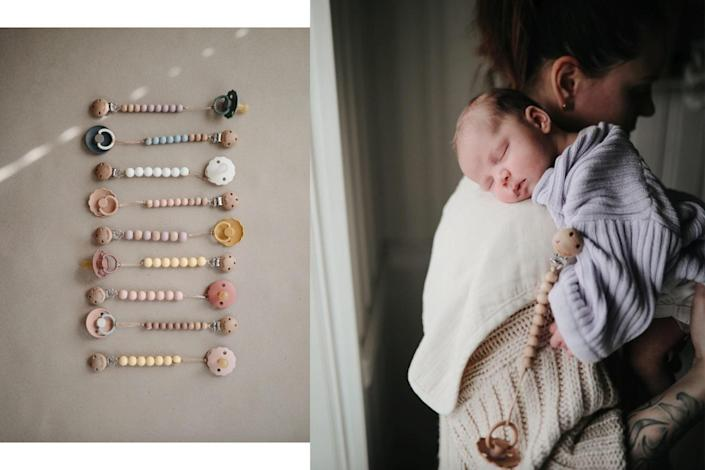 mushie pacifier clips