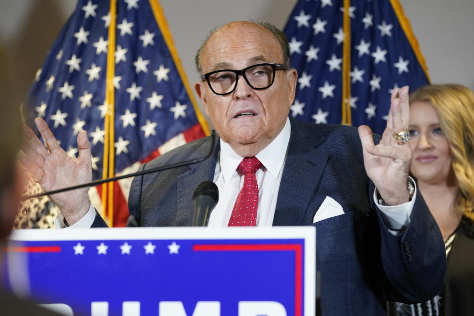 Rudy Giuliani at a news conference in Washington, D.C. (AP/Jacquelyn Martin)