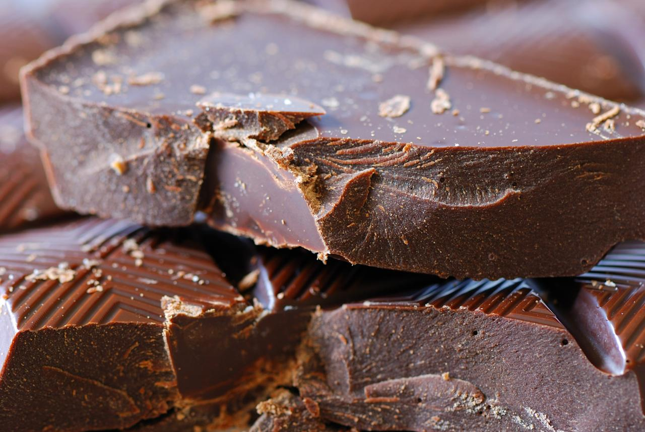 <p>In moderation, chocolate can have some great benefits — and dark chocolate can help because it contains more flavonoids. Flavonoids help with blood vessel activity, lowering risk of blood clotting. Anything that helps with lowering ones blood pressure is a no brainer when it comes to extending years to your life. Dark chocolate also has less sugar that milk chocolate, so don't feel too bad about indulging. </p>