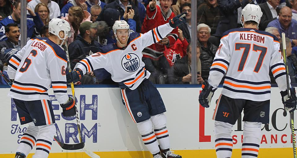 Connor McDavid put on a show in Toronto. (Photo by Claus Andersen/Getty Images)