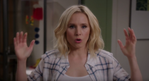 """<p>It's rare for a comedy to have a twist this shocking: In last January's Season 1 finale, Eleanor (Kristen Bell) finally realized that """"the Good Place"""" to which she believed she had been falsely admitted after dying was actually a new kind of """"Bad Place"""" designed by demon Michael (Ted Danson). Fan Damon Lindelof put it best: """"<em>The Good Place</em> blew my mind. [Creator] Mike Schur told me what he was gonna do before he did it and it STILL blew my mind,"""" <a href=""""https://www.yahoo.com/entertainment/battlestar-galactica-buffy-and-other-series-genre-show-producers-believe-deserved-more-emmy-love-150024701.html"""" data-ylk=""""slk:he told us;outcm:mb_qualified_link;_E:mb_qualified_link;ct:story;"""" class=""""link rapid-noclick-resp yahoo-link"""">he told us</a>. """"Best first season finale for any show I think I've ever seen. All that, and FUNNY too. This show should get Emmy nominations for everything there is."""" —<em>Mandi Bierly</em><br> (Photo: NBC) </p>"""