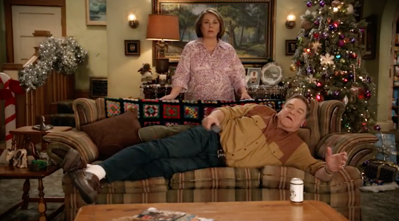 John Goodman is seen watching the basketball in the first promo. Source: ABC