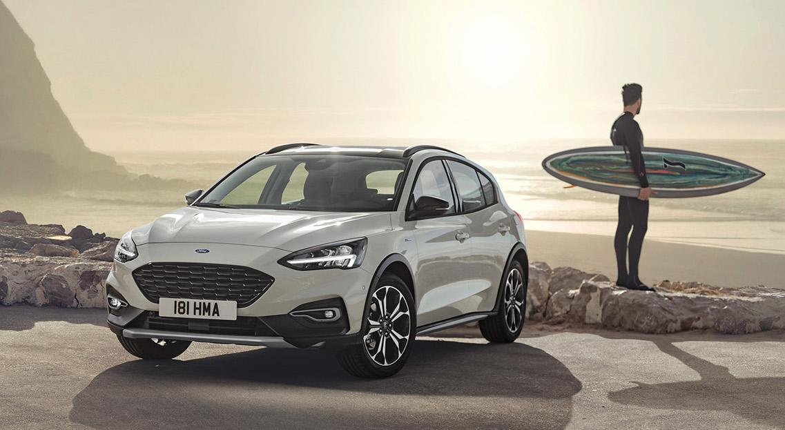 The Ford Focus Active: You can't buy it here on account of Trump's tariffs. Photo: Ford Motor Co.