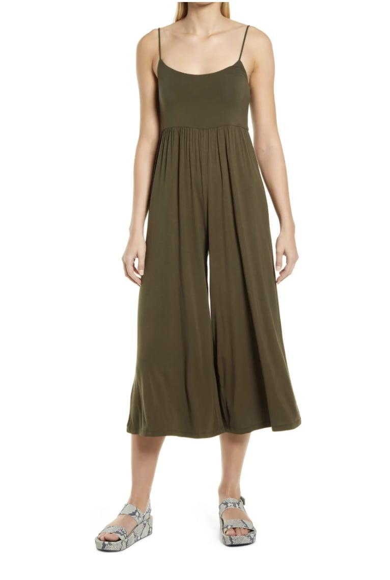 <p>This <span>Prim Easy Knit Wide Leg Jumpsuit</span> ($49) is ready for your next beach day, solo city date, or literally all your casual summer occasions!</p>